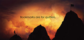 Bookmarks are for quitters Postcard