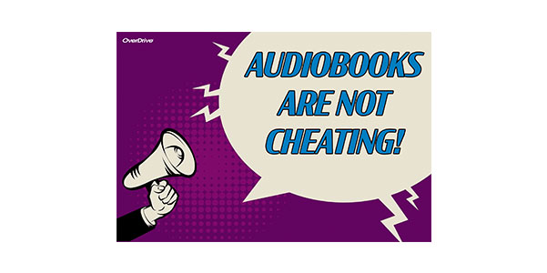 Audiobooks Are Not Cheating Postcard